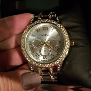 Bebe silver/gold crystal watch